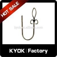 curtain rod accessory/flagpole curtain finial hooks