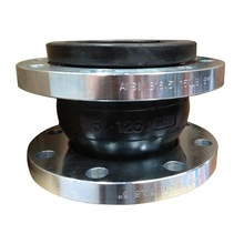 Single Sphere High Performance Carbon Steel, Zinc Plated PN10 / PN16 Rubber Expansion Join