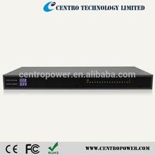 DC12v 20A Rack Mount cctv power box with LED Meter power distribution box
