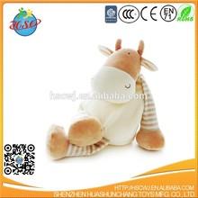 unstuffed plush cuddly toy cow skin