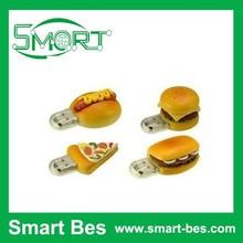 ShenZhen Hamburger cartoon character usb flash drive, bulk 2gb usb flash drives, 1 dollar usb flash drive