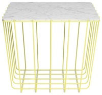 marble top metal wire mesh coffee table