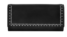 Hot New Products for 2015 Wholesale Exquisite Rivet Soft Genuine Leather Wallet