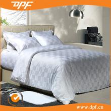 2015 new design fashion design double stitching plaid hotel bedding set