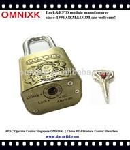 Hot lock digital safe padlock alarm AL-60 for push bikes