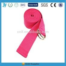 wholesale comfortable pink cotton yoga straps