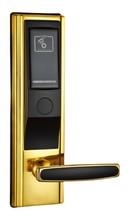 balck and golden electronic key control hotel door lock digital door lock