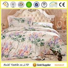 Luxury Custom Design Printed 100% Mulberry Silk Bedding Set/ Silk Bedding Sheet Set