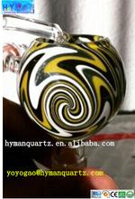 [hyman] hot selling quartz glass colorful honey bucket and honey bucket with skull