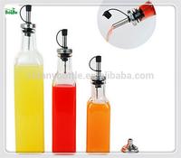 three sizes glass bottle cooking oil bottle condiment bottle