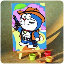 Cowboy cat Doraemon DIY paintings