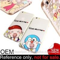 New products custom logo cute cartoon cheap tpu case for iphone 6