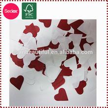 5cm white and red heart shape tissue paper confetti