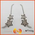 novo projeto popular estrela forma 925 orelha prata manguito brincos para as mulheres