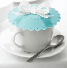 Hot Selling Elegant butterfly bow cute silicone airtight cup cover sealed coffee mug lid cap