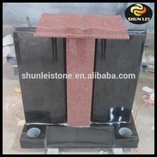 European simple granite tombstone and monument