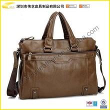 2015 leather man handbag for promotional gifts business man bag