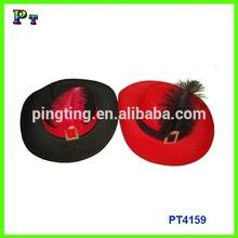 Black Felt Fedora Hat For Ladies