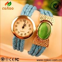 Fashion Women's Bracelet Opal Analog Watch Quartz Girl's Decorate Wrist Watch