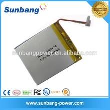 customized 955590 lipo 3.7v battery 5000mah for table pc/medical device/ led ltight