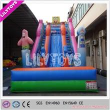 EN14960 0.55mm plato pvc custom inflatable double lane slip and slide inflatable
