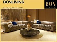 Luxury tufted seat living room sofa