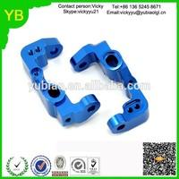 Custom OEM CNC milling Machined Aluminum Associated Front Caster Block blue anodized
