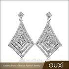 OUXI New arrival rhombus big earrings online shopping jewellery