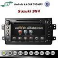 Nuevo androide 4.4 rockchip a9 de doble- núcleo de audio del coche del coche del sistema de radio dvd con la navegación gps para suzuki sx4