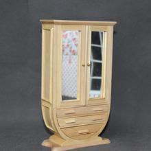 1/12 scale new arrivals mini wooden simple style wardrobe miniature dollhouse furniture
