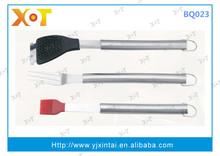 stainless steel handle 3pcs BBQ tools set BQ023