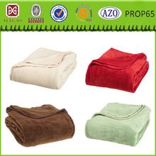 Polyester blanket polyester fleece blanket Linen / Sand / Fleece / King