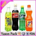 Yason wasserflasche bleistift weinflasche folie kappen druck auf pet-flasche