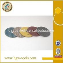 diamond dry hand polishing pads
