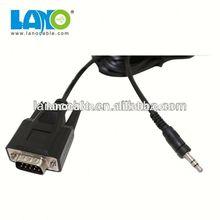 2015 new design 1m custom cable vga rca rca to vga cable