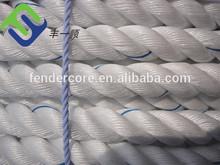 Nuevo diseño pp de plástico de polipropileno cuerda trenzada cuerda de polipropileno de 16 mm