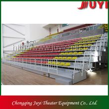 JY-706 factory price grandstand seating aluminium bleacher plastic seat retractable bleacher telescopic seating