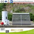 2015 Popular tipo de bobinas de doble fractura presurizó el calentador de agua Solar / 100-1000L tubo de calor del calentador de agua Solar