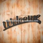 Hanging metal welcome sign Decorative metal wall art