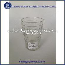 190ml cutting circle clear water glass cup custom glassware manufacturer