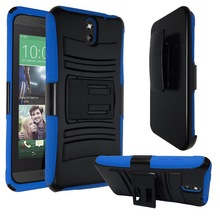 Heavy Duty Armor Protective Hybrid Case Back Cover for HTC Desire 820 with Kickstand