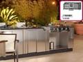 custom açoinoxidável comercial armários de cozinha moderna