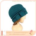 venta al por mayor de moda de la señora de algodón o lana de punto beanie sombrero