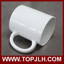 11oz color rim color handle sublimation ceramic mug with printing effect