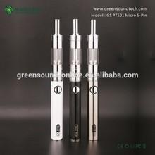 Great innovation! e cigarette PTS01 vaporizer pen kit 650mah 900mah PTS 01 micro usb cable battery