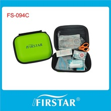 Specific design hard eva and polyester zippered first aid kit in car
