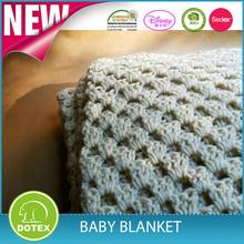 2014 winter hot sale100% cotton wholesale crochet super soft baby blanket pattern