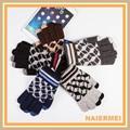 quadretti touch screen di lana per maglieria guanti per gli uomini