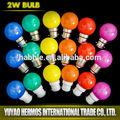 Nouveau style 0.5w 220v e27 e14 b22 led de couleur mini lampe led ampoule de couleur