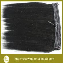6A Unprocessed Virgin Human Hair Flip In Extension Straight Virgin Hair Brazilian Straight Virgin Hair Weft Extension